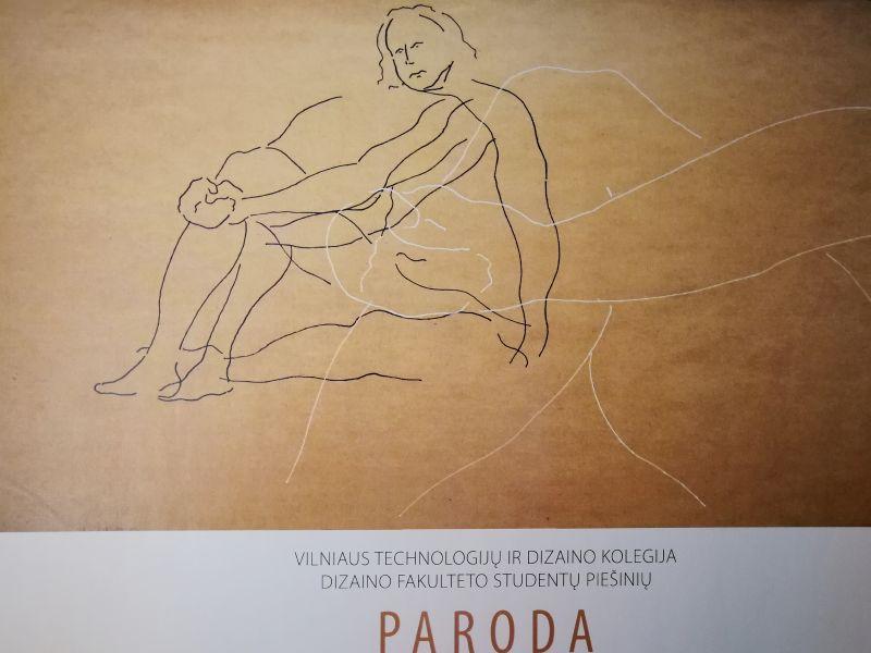 Vilniaus technologijų ir dizaino kolegijos Dizaino fakulteto studentų piešinių paroda