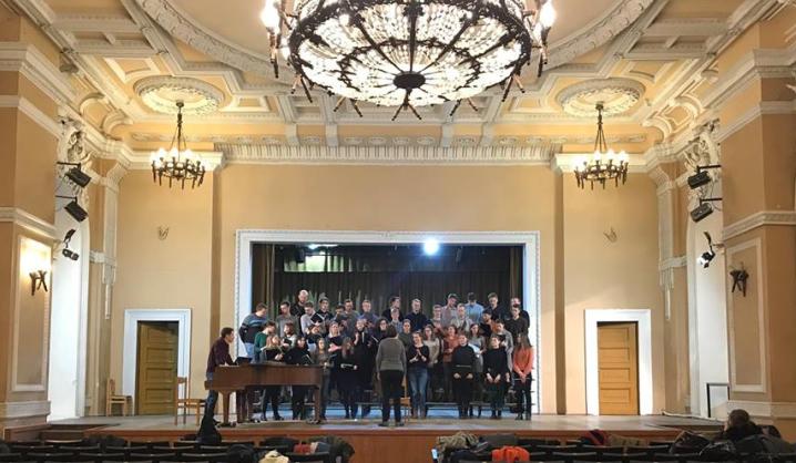 VGTU choras ruošiasi Dainų šventei ir gastrolėms Sankt Peterburge