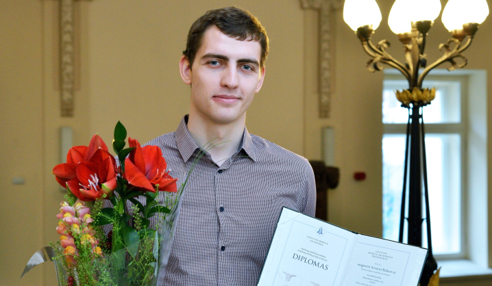 VGTU studentas apdovanotas LMA premija